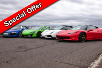 Platinum Supercar Experience 4 Cars + FREE High Speed Ride