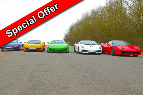 Five Car Platinum Taster Special Offer Inc. Hot Lap