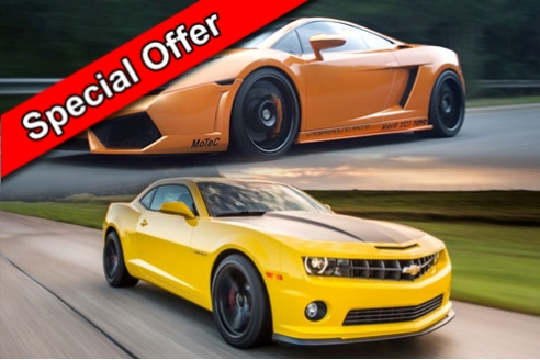 Two Car Taster Special Offer Inc. Hot Lap
